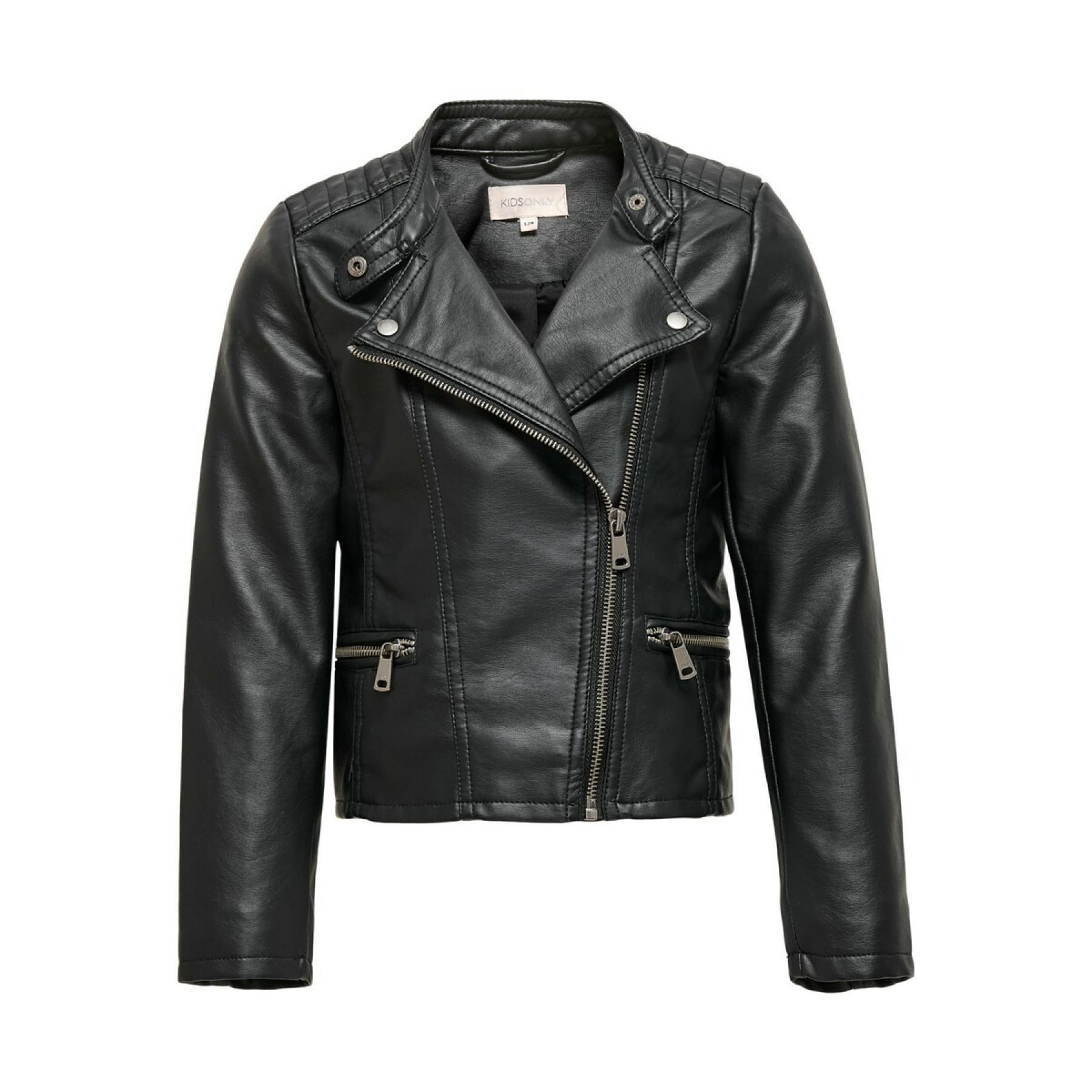 Girl's jacket Only kids Freya imitation cuir biker