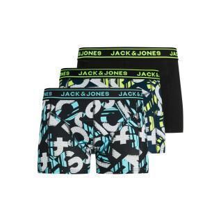 Set of 3 children's boxers Jack & Jones Logo Print