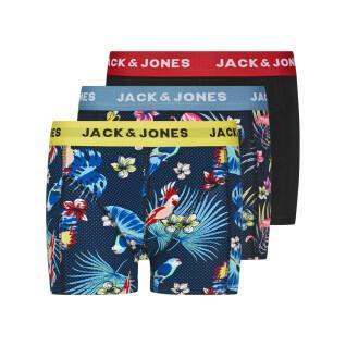 Set of 3 children's boxers Jack & Jones Flower Bird