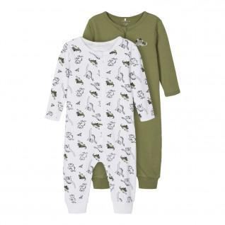 Set of 2 baby onesies Name it Dino