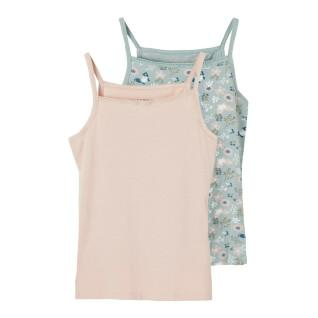 Set of 2 tank tops for girls Name it Strap