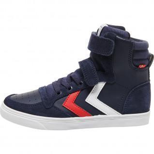 Children's sneakers Hummel slimmer stadil leather high