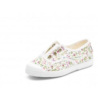 Baby canvas shoes Cienta fleurs anglaises