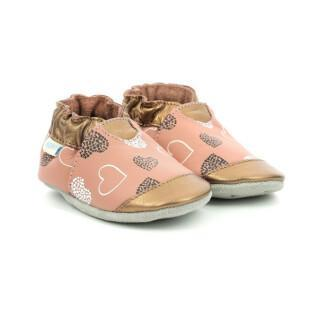 Baby slippers Robeez  Spicy Hearts